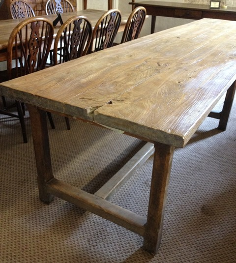 antique kitchen tables country shelves for large dining room stretcher normandy table