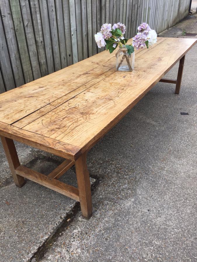 Antique Large Ash Normandy Farmhouse Table Antique