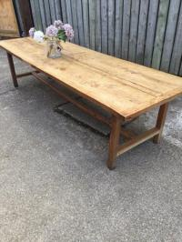 Antique large ash Normandy farmhouse table, Antique ...