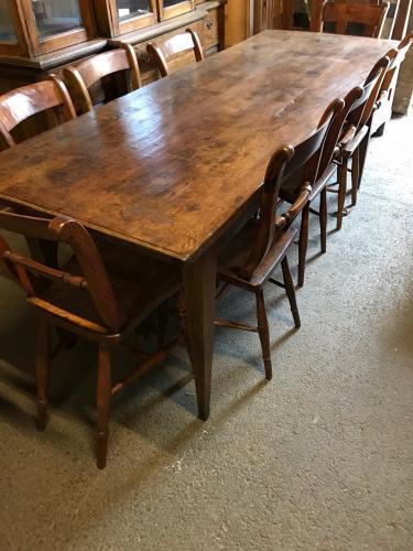 Oak Rustic Farmhouse Table Antique Tables Dining Tables Rustic Kitchen Table Rustic Oak