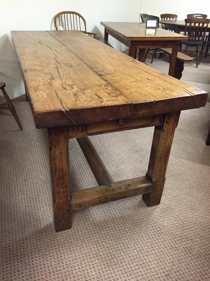 antique kitchen tables vessels set rustic refectory elm farm house table sold gallery