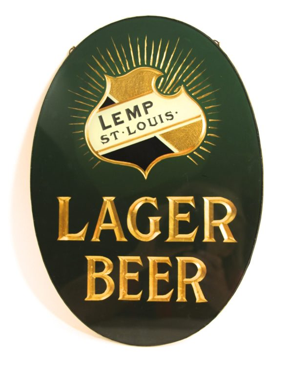 Antique Advertising Expert Lemp Brewery Lager Beer Reverse-glass Sign 1895