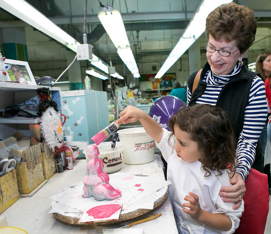 Charlie creates her own Isabel Bloom with her grandmother, Photo by: Isabel Bloom