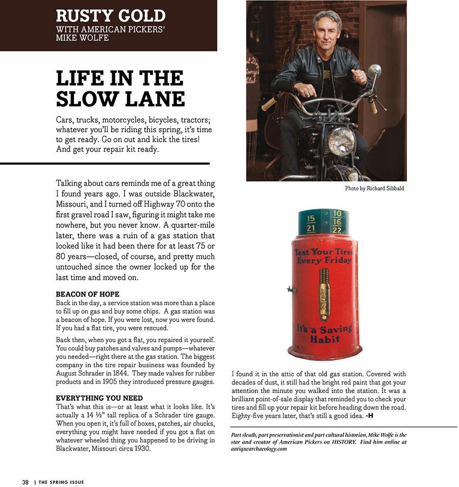 mike wolfe hoss magazine
