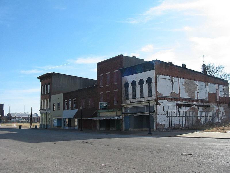 Commercial Street in Cairo, Illinois via hickory hardscrabble