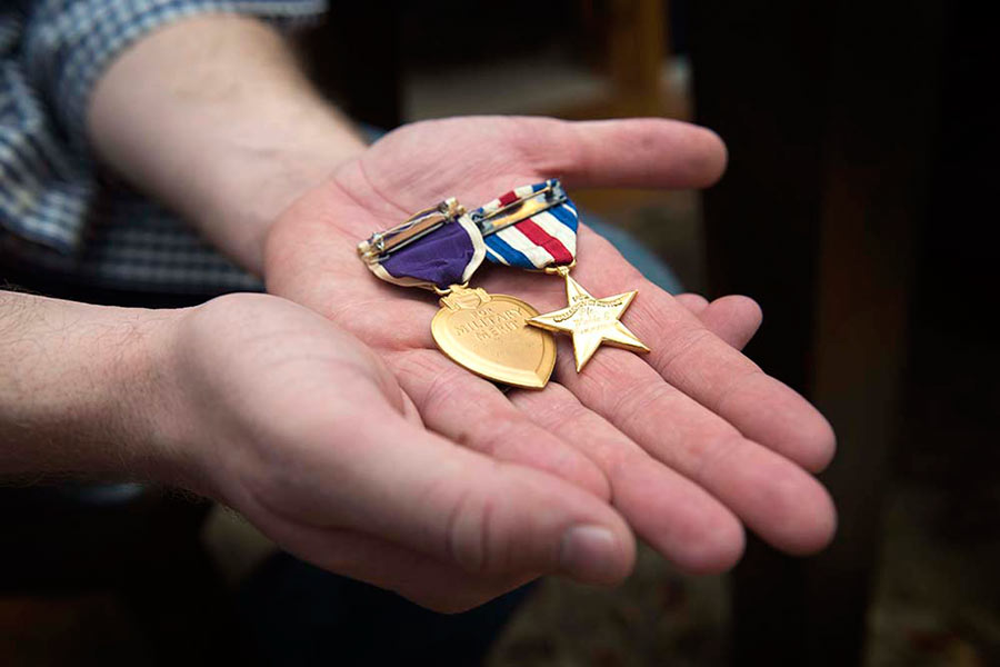purple hearts medals