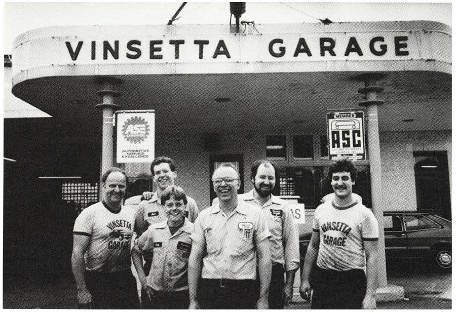 Mike Kurta Sr. and his mechanic crew.