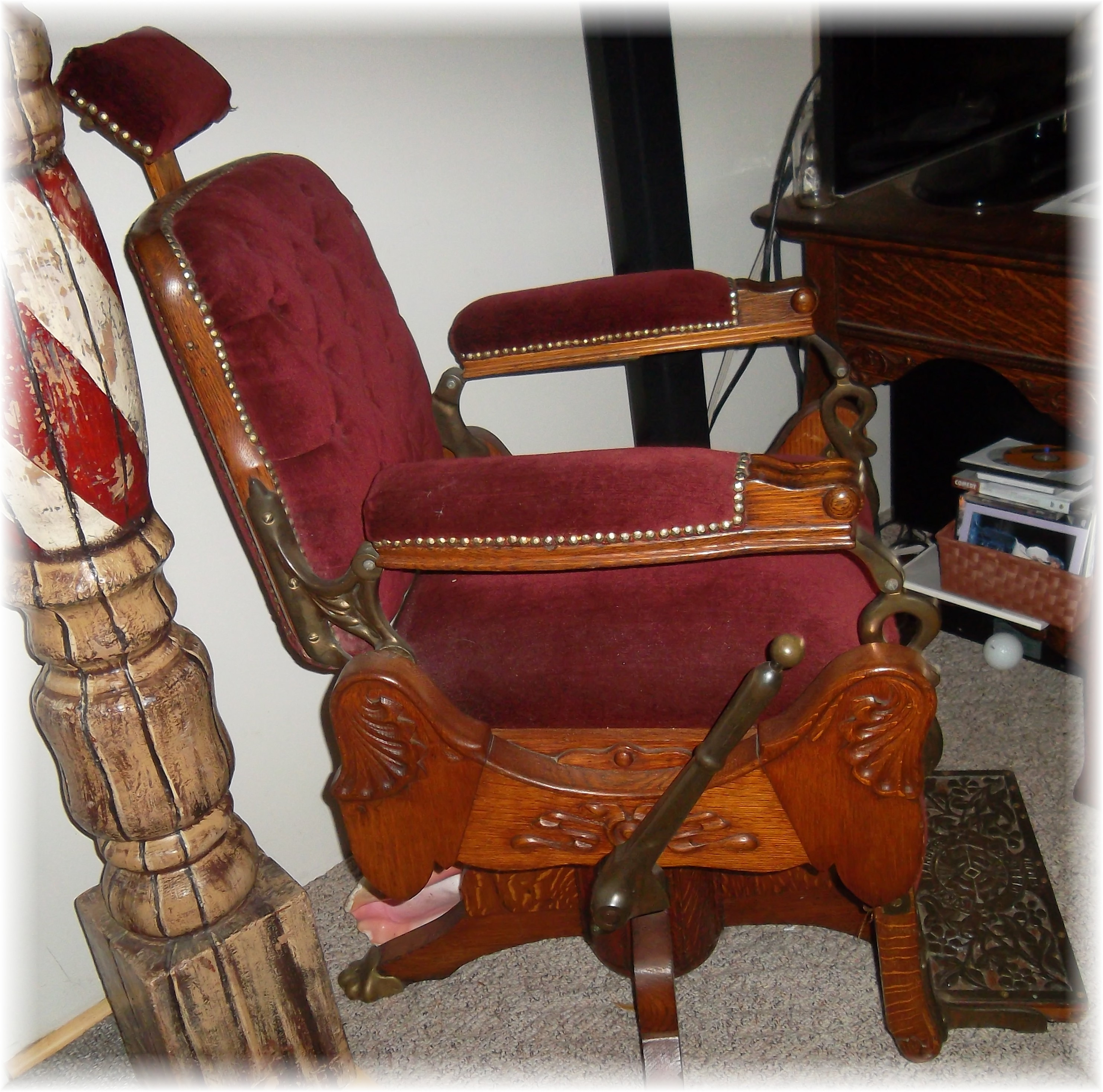 1800 koken barber chair outdoor party chairs 1895