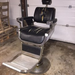 Antique Barber Chairs Wooden Accent Belmont Vintage Chair