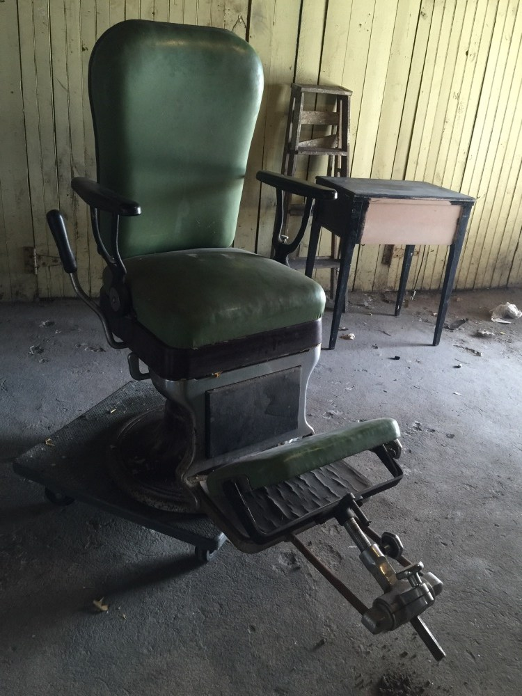 belmont barber chair parts reindeer christmas covers green leather antique chair.
