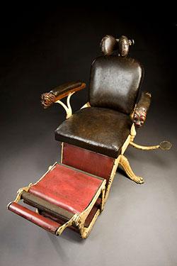 vintage dentist chair novelty christmas covers antique vs barber c1900