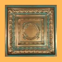 "24""x24"" Majesty Antique Copper Patina PVC 20mil Ceiling ..."