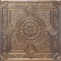 """24""""x24"""" Peru Antique Bronze Black PVC 20mil Ceiling Tile ..."""