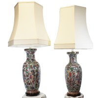 Pair Chinese Vase Lamps