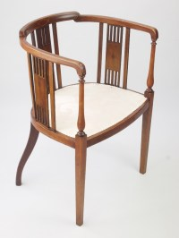 Antique Edwardian Tub Chair - Antique Mahogany Tub Chairs ...