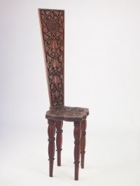 Antique Welsh Oak Spinning Chair Dated 1900