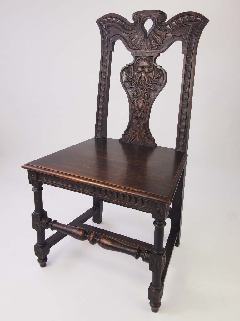 gothic chairs uk sling lounge chair antique victorian revival hall oak for sale