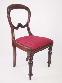 Set Six Mahogany Balloon Back Dining Chairs For Sale