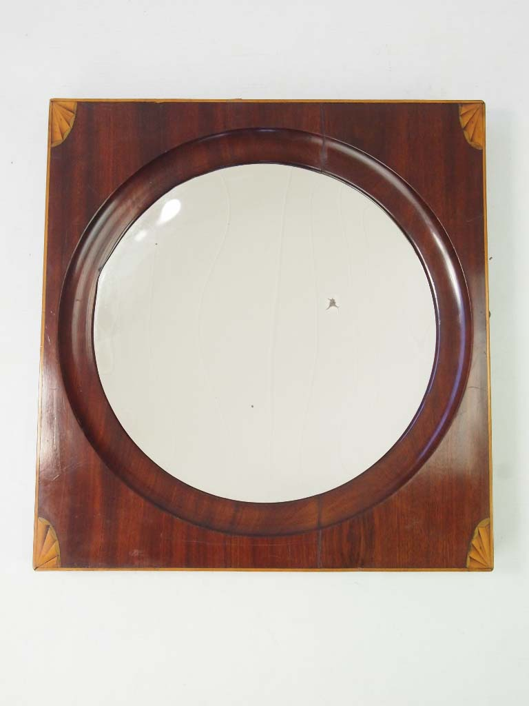 Antique Georgian Concave Mirror  Hall Mirror