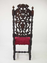 Tall Pair of Victorian Gothic Revival Chairs