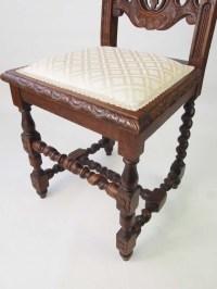 Antique Victorian Gothic Revival Oak Chair