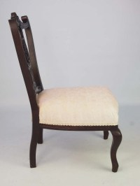 Small Antique Edwardian Dressing Table Chair