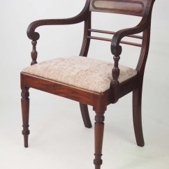Desk Chair Reviews And A Half Rocker With Ottoman Antique Regency Mahogany / Open Armchair