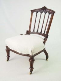 Small Antique Victorian Chair - Small Vintage Side Bedroom ...