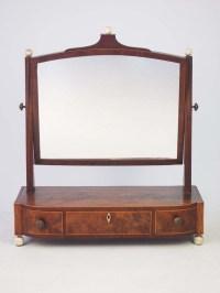 Antique Georgian Toilet Mirror / Vanity Mirror