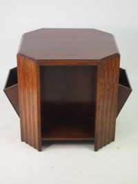 Art Deco Oak Book Table / Coffee Table