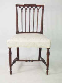 Antique Georgian Gothic Mahogany Chair