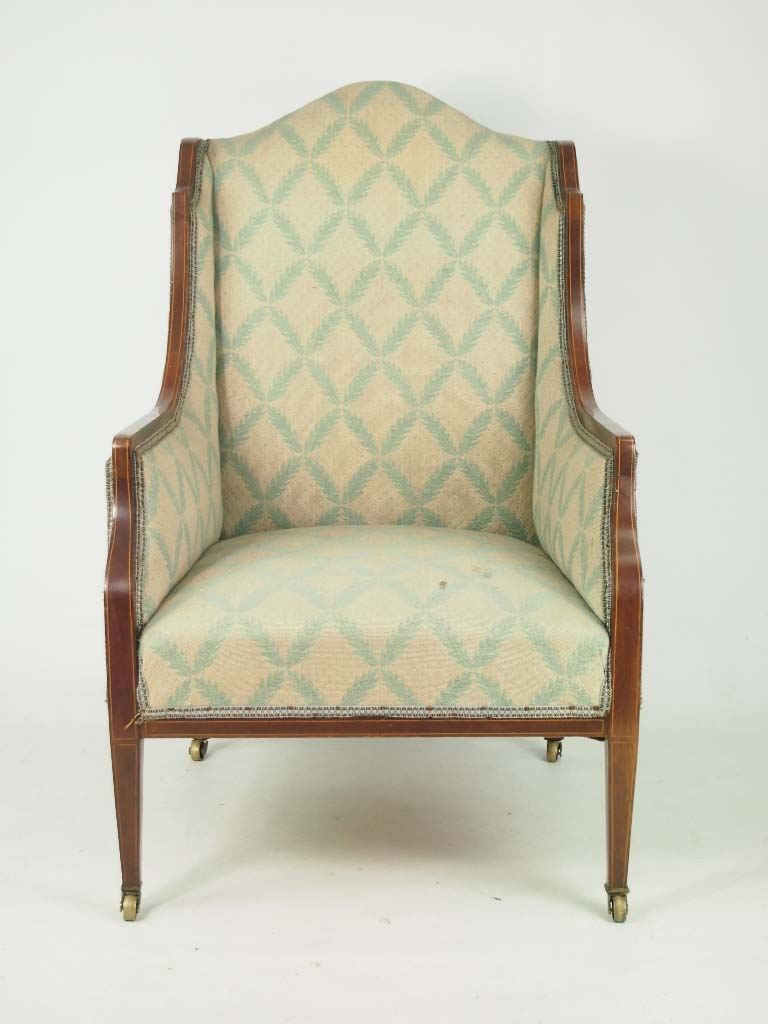 Antique Edwardian Armchair for RecoveringReupholstery