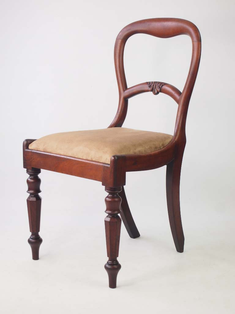 Antique Victorian Desk Chair  Vintage Mahogany Balloon