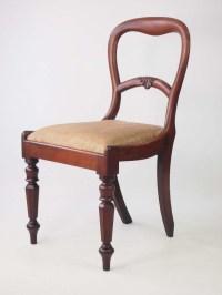 Antique Victorian Mahogany Desk Chair
