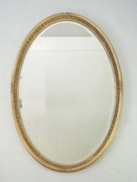 Large Oval Gilt Framed Mirror