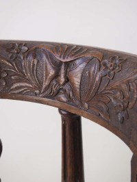 Victorian Oak Corner Chair Carved with Moustachioed ...
