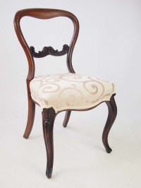 Set 4 Antique Victorian Rosewood Balloon Back Chairs