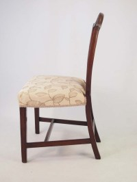 Antique Georgian Mahogany & Inlaid Desk Chair