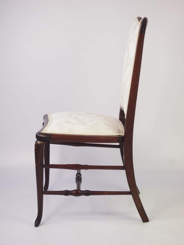 Small Edwardian Mahogany & Inlaid Dressing Table Chair