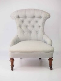 Small Victorian Walnut Nursing Chair