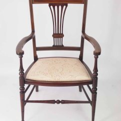 Chair That Opens Into A Bed Antique Beach Small Edwardian Open Armchair Bedroom