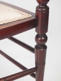 Small Antique Edwardian Bedroom Chair - Bedroom Nursing ...