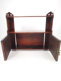 Victorian Walnut Hanging Cabinet / Bathroom Cabinet