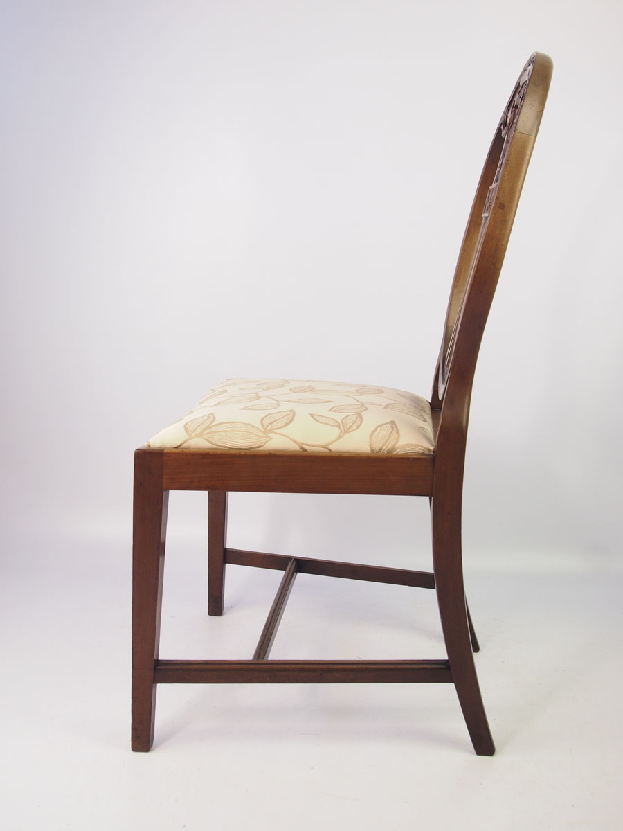 Edwardian Mahogany Desk Chair / Dressing Table Chair