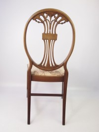 Edwardian Mahogany Desk Chair / Dressing Table Chair