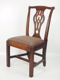 "Antique Georgian ""Chippendale"" Mahogany Desk Chair"