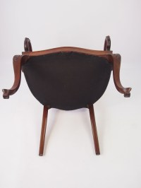 Victorian Carved Mahogany Open Armchair / Dressing Table ...