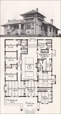 FREE HOME PLANS - MISSION STYLE HOUSE PLANS