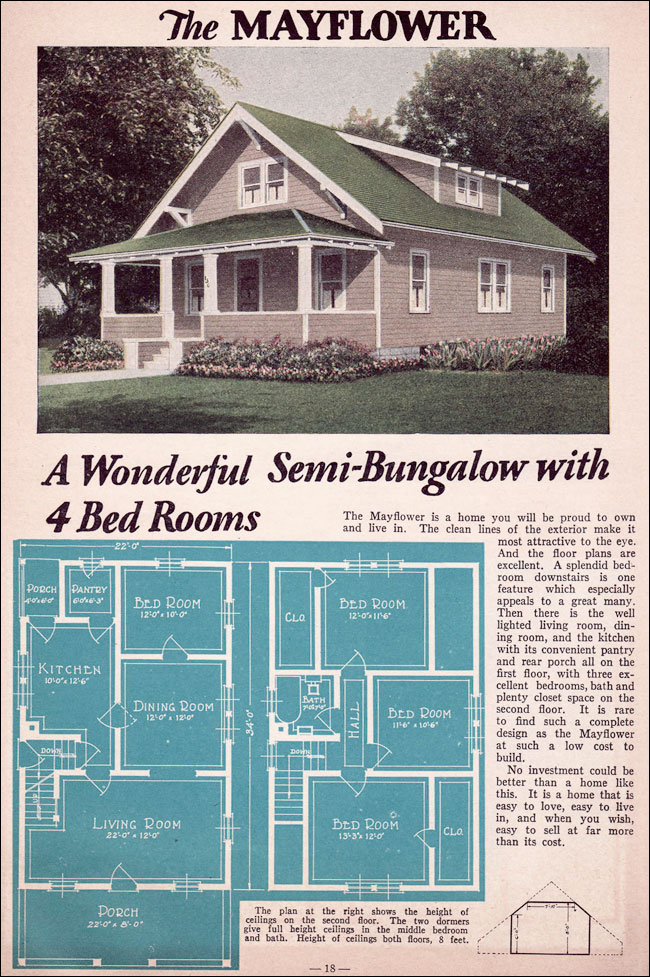 Bungalow 1935 Liberty Homes Lewis Mfg Bay City