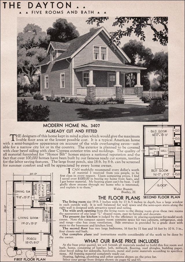 1930s craftsman house plans for Craftsman bungalow house plans 1930s